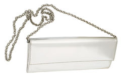 White  clutch bag Royalty Free Stock Image