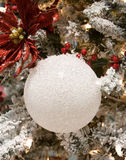 White Coarse Christmas Ornament Royalty Free Stock Photography