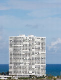 White Coastal Condo Tower Stock Photography