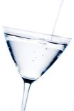 White cocktail with blue reflections Royalty Free Stock Photo