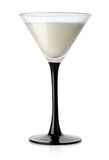 White cocktail in a wineglass Stock Image