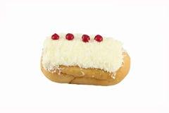 White Coconut Sushi Donuts on white background. Stock Image