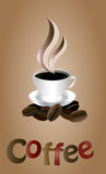 White coffe cup Royalty Free Stock Image