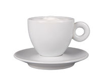 White coffe cup. Cup of coffe. Isolated coffee cup. Royalty Free Stock Photography