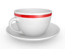 White coffe cup over white background Stock Image