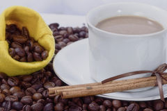 White coffe Stock Image