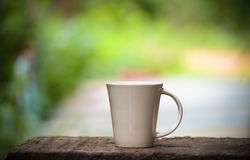 White coffee Ceramic glass Stock Photos