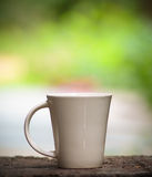 White coffee Ceramic glass Stock Image