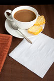 White coffee and cookies Stock Photography