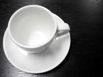 White Coffee Cup Stock Photo