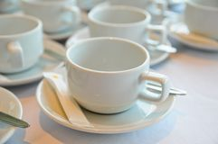 White coffee cup Stock Images
