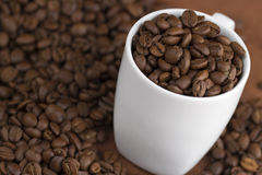 White coffee cup Stock Photography
