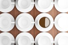 White coffee cup background Stock Photos