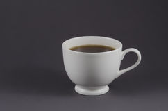 White coffee cup with black coffee Stock Photo