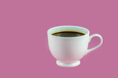White coffee cup with black coffee Stock Images