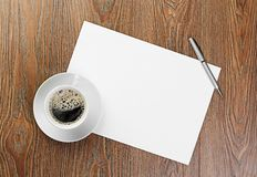 White coffee cup on blank Stock Image