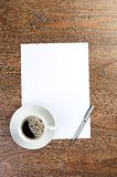 White coffee cup on blank Stock Photos