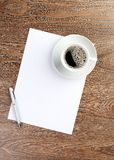 White coffee cup on blank Royalty Free Stock Images