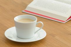 White coffee cup in a business setting Stock Photo