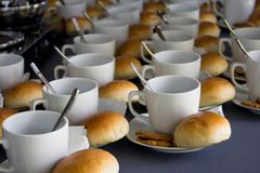 Coffee cup and breakfast pattern stock photography