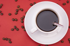 White coffee cup Royalty Free Stock Photos