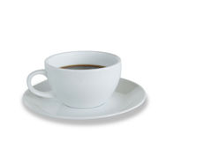 White coffee cup isolated with clipping path Stock Photos