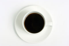 White coffee cup isolated on white Royalty Free Stock Photography