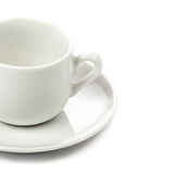 White coffee cup isolated on white background Stock Images