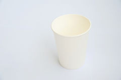 A white coffee cup made from cup stock paper Royalty Free Stock Image