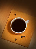 A white coffee cup on a napkin Royalty Free Stock Image