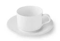 White coffee cup and saucer Stock Image