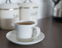 White Coffee Cup and Saucer. Royalty Free Stock Photography