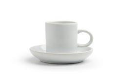 White Coffee cup  on white Royalty Free Stock Photos