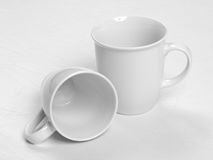 White coffee cups Royalty Free Stock Image