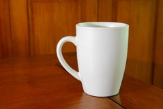 White coffee mug Stock Photos