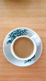 White coffee in old chinese cup. Stock Image