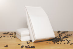 White coffee packages Stock Photo