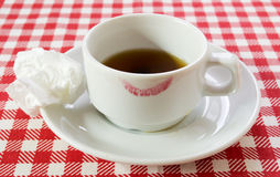 White coffee pair stock photography
