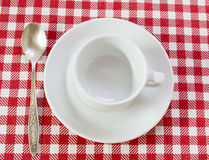 White coffee pair Stock Photo