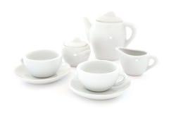 White Coffee Set Stock Image