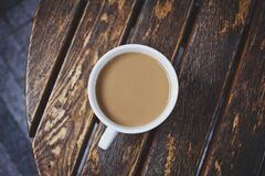White coffee on the table Stock Photography