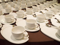 White Coffee/tea cups for catering Stock Photo