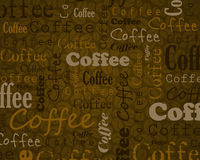 Coffee text background Stock Photography