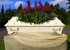 White coffin Royalty Free Stock Photos