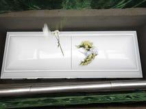 White Coffin Royalty Free Stock Image