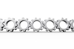 White cogs and wheels connecting Royalty Free Stock Image