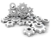 White cogwheels Stock Image