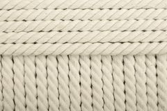 White coiled rope Royalty Free Stock Images