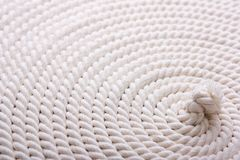 White coiled rope Stock Photo