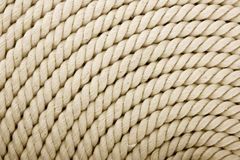 White coiled rope Stock Photos